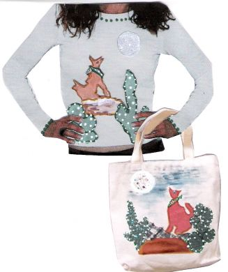 Free Cactus And Coyote Applique Kit - You pay shipping and handling
