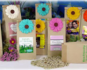 Personalized Eco-Friendly Wildflower Bridal Shower Favor Bags